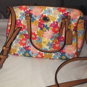 COACH flower crossbody bag